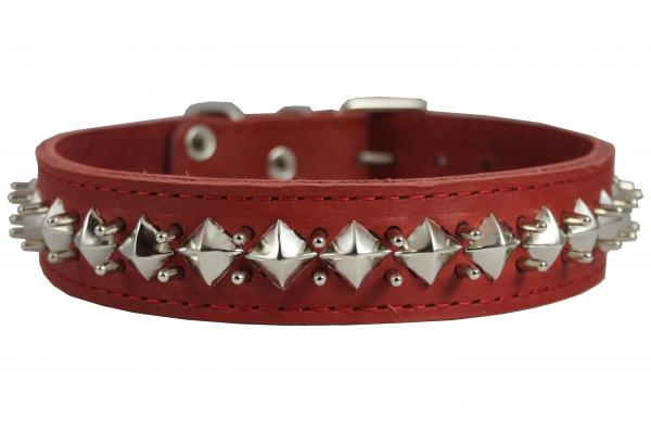 Latigo Leather Spiked Studded Dog Collar