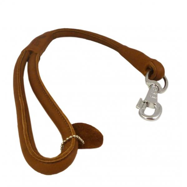 Rolled Leather Dog Short Leash