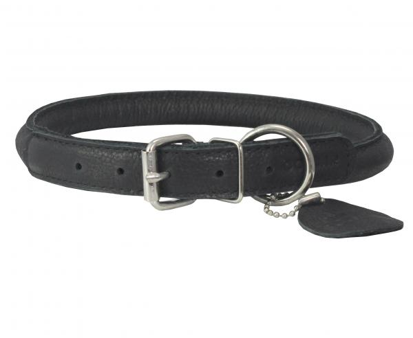 Genuine Leather Rolled Dog Collar