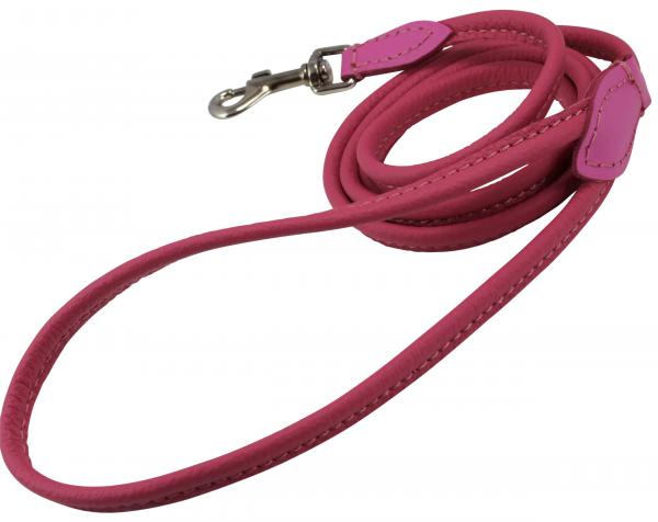 Round Genuine Rolled Leather Dog Leash