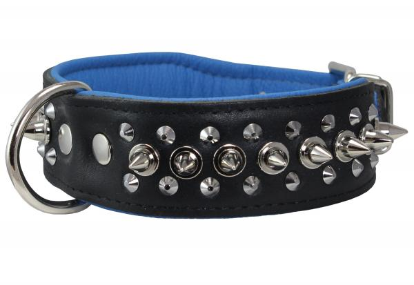 Spiked Genuine Leather Dog Collar