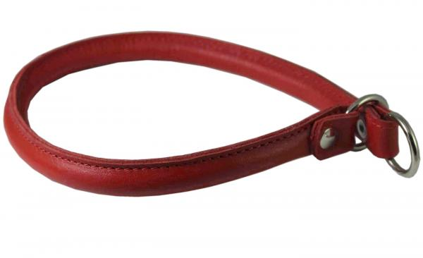 Round Rolled Leather Choke Dog Collar