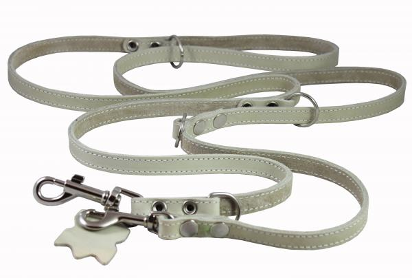 Leather Dog Leash, Adjustable 49