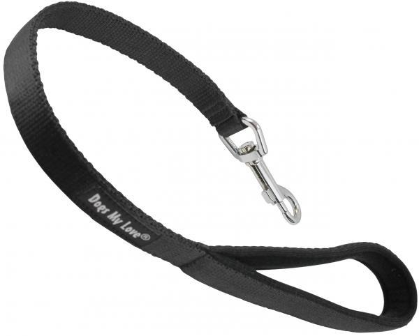 Short Dog Leash Padded Handle Wide Nylon